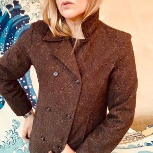 Brown tweed double breast blazer. Old Navy szS